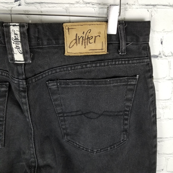 DRIFTER | regular fit 100% cotton black wash jeans